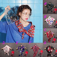 Wholesale 10Pcs Square Scarves Fashion All match decoration short Style Women s Silk Scarves Mix Style Autumn Style