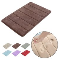 Wholesale Stylish design Coral Velvet Memory Foam Non Slip Back Rug Soft Bathroom Carpet Memory Foam Bath Mat