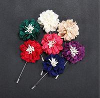 african handmade crafts - Popular Crafts Wedding Dress Men s Suit Black Flower Brooches Handmade Long Lapel Pins Brooch Good Corsage For Men Women