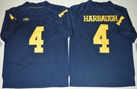 Wholesale New Style Michigan Wolverines Jim Harbaugh College Football Limited Jersey Embroidery Sportswear Size S XL Top Quallity