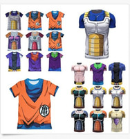 Wholesale Dragon Ball Z Anime Japan T Shirt D Goku Super Saiyan DBZ Vegeta New
