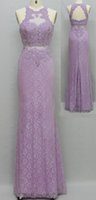 Wholesale new collection spring summer PROM dresses romantic lilac lace and embroidery USA hot sales style sexy back