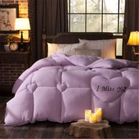 Wholesale Four Colors Choonse Very Warm winter goose down blanket comforter winter king feather comforter embroidered summer quilts