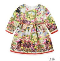 american retro dress - wholsale new arrivals Europe and the United States and the European version of retro mirror Floral Dress L216