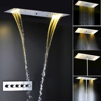 Wholesale multi function mm rainfall waterfall mist fall and water column concealed led shower set