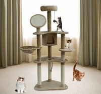 Wholesale New Cat House tower toy Cat Tree Condo House Furniture Scratching Post Bed Pet