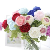 Wholesale New Year Hot High grade Silk Flower Artificial Fake Peony Flower Home Room Bridal Hydrangea Decor Real Touch Wedding Home Party Decoration