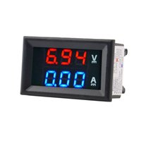 Wholesale Top Quality DC V A Voltmeter Ammeter Blue Red LED Amp Dual Digital Volt Meter Gauge Voltage Current Home Use Tool