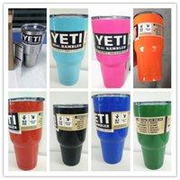 Wholesale YETI Tumbler Rambler Cups Large Capacity Stainless Steel Tumbler Mugs Pink Deep Blue Light Blue Orange Green oz YETI