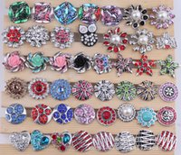 Wholesale 2016 Mix styles mm Metal Snap Button Charm Rhinestone Styles Button rivca Snaps Jewelry High Quality chunk bs03c