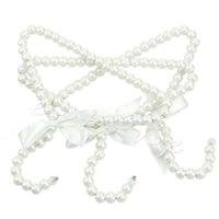 Wholesale 2016 member Collectibles new plastic pearl beaded bow wedding dress garment hanger small hanger atmospheric high end children