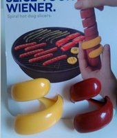 Wholesale 2 Home Kitchen Spiral Hot Dog Fancy Sausage Cutter Slicer Stylish ZH