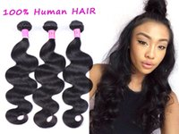 Wholesale 2016 No Tangle No Shedding Brazilian Hair Human Hair Weave Wavy Body Wave Natural Color Hair Extensions