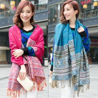 air conditioning factory - Ms factory outlet Nepal national autumn wind cotton and linen scarf Small jacquard stretch air conditioning fringed shawl