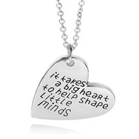 big link necklace - 2016 father s day Letters Pendant Necklace quot It take a big heart to help shape little minds quot father s Day Gifts Jewelry Necklacezj