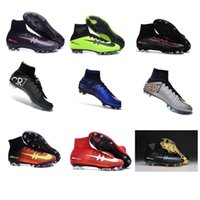 ankle grinding - 2016 New Cristiano Ronaldo FG Soccer Cleats Sport Men Football Boots High Ankle ACC Firm Ground Soccer Shoes