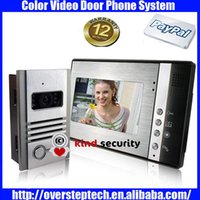 Wholesale Inch Color TFT LCD VIDEO DOOR BELL with unlock function night vision Video Door Phone with Automatic Camera