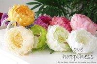 Wedding big rose flowers - Artificial Silk flower Heads Peony inch Big Rose Flower Heads for Wedding Decor Flower Wreath Flower Garland Flower Ball