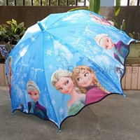 Wholesale Hot Sale Fashion Cute Cartoon Frozen Umbrella Rain and Sun Proof Frozen Princess Elsa Anna Olaf Children Umbrella cm Frozen Series