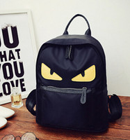 Wholesale Handbags spring burst models little monster shoulder bag handbag waterproof nylon handbag student backpack