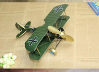 best furnishes - Home Furnishing Iron crafts ornaments retro biplane model creative decoration Cool Best Gift Big Size