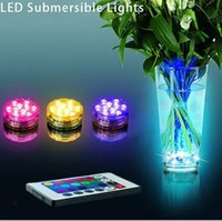 Wholesale Remote Controlled Battery Operated Submersible LED Waterproof Light RGB for Vase Wedding Party Fish Tank Decors LJJC5097