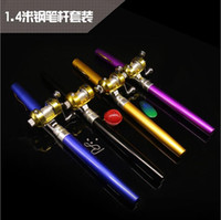 Wholesale 1 m drum kit mini portable pen rod fishing rod sea rod pocket a small ice fishing rod