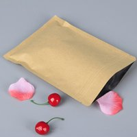Wholesale 100pcs cm Ziplock Seal Kraft Paper Bag with Aluminum Foil Coated