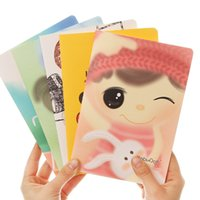 Wholesale 2016 Korea Style mm Paper Notebook A5 Diary Book Cute Notebooks Paper Notepads Gift For Children School Supply set