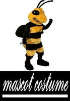 bee suit - Hornet Mascot Costume Adult Size Hornet Bee Mascotte Outfit Suit Party Halloween Christmas Carnival Costumes