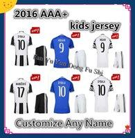 Wholesale Uniforms Youth Kids Juventus Soccer Jersey MARCHISIO MORAT DYBALA Higuain home RD Third Away White Jerseys
