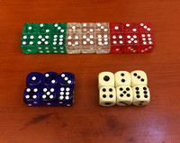acrylic dice - 15mm Crystal Dice Clear Square Corners Sided Dices Transparent D6 Boson Acrylic Kids Board Games Toy Drinking Game Good Price F20