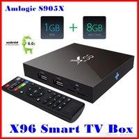 Wholesale Latest X96 Amlogic S905X Quad Core Android G G KODI K Smart Android Tv box PK M8s T95