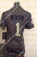 america cam - Newest Hot Nik Elite Carolina Cam Newton Panthers Salute To Service Women Ladies Stitched Embroidery America Football Jerseys