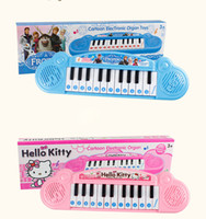 Wholesale Elsa Anna Musical Instruments Hello Kitty Baby Girls Piano Children s Electronic Organ Cartoon Keyboard Demonstration Songs with Music