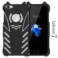 batman metal - R JUST Batman Series Heavy Dust Metal Armor Anodized Aluminum Case for IPhone Plus S S S SE Fundas Coque Housing Cover