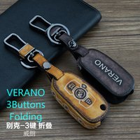 automobile key fobs - Smart Car Key case Buttons FOR Buick Verano Keychain Graffit Genuine Leather Car Key Fob Chain Interior Accessories Automobiles Olympic