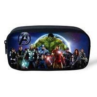 america cosmetics - 2016 New Arrival Popular Cosmetic Cases Cartoon Character Superhero Spiderman The Avengers Captain America For Kids Boys Girls