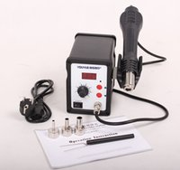 Wholesale YOUYUE D V Hot Air Gun W ESD Soldering Station LED Digital Heat Gun Desoldering Station Upgrade From D Air nozzle