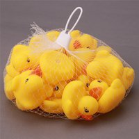 baby toy s - 600pcs Baby Bath Water Toy Toys Sounds Yellow Rubber Ducks Kids Bathe Children Swiming Beach Ducks Gifts