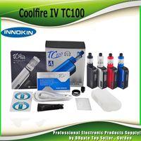 Precio de Mods fresco-Auténtica Innokin Coolfire IV TC 100 Kit de arranque con Cool fuego 4 TC100 3300mAh TC 100w Mod Aethon chipset isub V del tanque 100% genuina 2201057