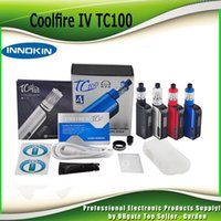 Electronic Cigarette Battery as pictures Authentic Innokin Coolfire IV TC 100 starter Kit With Cool Fire 4 TC100 3300mah TC 100w Mod Aethon Chipset ISub V Tank 100% genuine 2201057
