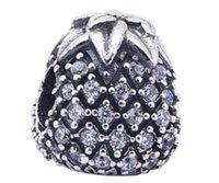 achat en gros de style de l'europe 925 charmes-925 Sterling Silver Pineapple Charme Perle Convient Bracelet Europe Style Pandora Bijoux DIY
