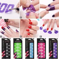 Wholesale Hot New color U shaped armor spill spill glue nail stickers nail stickers optional for Women