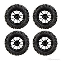 Wholesale 4Pcs High Performance RC Truck Wheel Rim and Tire for Traxxas HSP Tamiya HPI Kyosho Car