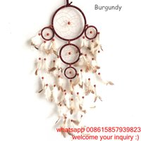 accessories wind chimes - New Arrival Big Dreamcatcher Wind Chime Feather Campanula Home Accessories Car Hanging Decoration Circular Home Decor Gift