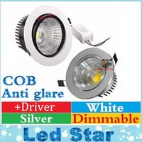 anti driver - COB Led Downlights W W W W Dimmable Led Recessed Ceiling Lights Anti glare AC V Drivers