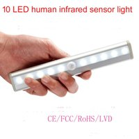 Wholesale HOT Selling LED sensor lights human infrared sensor light Cabinet Light Lamp For Kitchen Wardrobe Cupboard Closet Warm Cold White