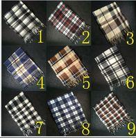 Wholesale 2016 men Tartan Scarves Wraps Plaid Checked Tassel Pashmina Shawls Fashion British style plaid scarves