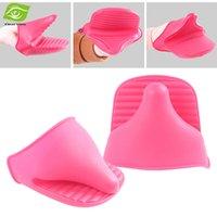 Wholesale 5pcs Heat Resistant Silicone Oven Mitts Folder Anti slip Baking Pot Clip Glove